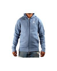 Nike - Blue Air Jordan Flight Fleece Full_zip Basketball Hoodie (large) for Men - Lyst