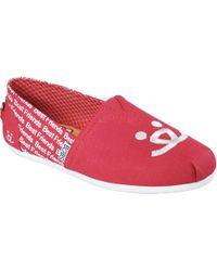 Skechers - Red Bobs Plush Best Friends Alpargata - Lyst