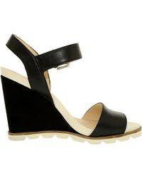 Nine West - Gronigen Women Us 9.5 Black Wedge Sandal - Lyst