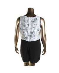 CALVIN KLEIN 205W39NYC - Black Womens Sleeveless Studded Romper - Lyst