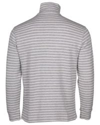 Polo Ralph Lauren - Gray 1/2 Zip Striped Knit Sweater-andover Heather-xl for Men - Lyst