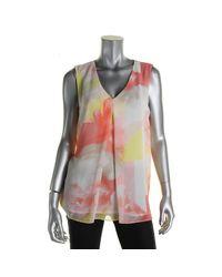 Calvin Klein | Multicolor Womens Polyester Chiffon Blouse | Lyst