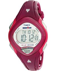 Timex - Pink Ironman Sleek Tw5m09000 Plastic Quartz Sport Watch - Lyst