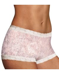 Maidenform - Multicolor 40760 Microfiber And Lace Boyshort Panty - Lyst