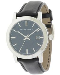 Burberry | Blue The City Leather Mens Watch Bu9009 for Men | Lyst