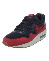 Nike   Air Max 1 Essential Black/gym Red/sail/gm Md Brown Running Shoe 5.5 Women Us   Lyst