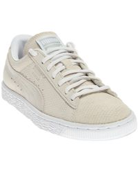 PUMA - Gray Suede Classic Winterized Lo Sneakers for Men - Lyst