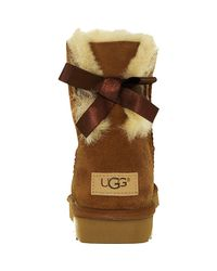 Ugg - Brown Ugg Mini Bailey Bow Chestnut Ankle-high Suede Boot - Lyst