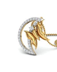 Diamoire Jewels - Metallic Swallowtail Butterfly Carved Pendant In 18kt Yellow Gold - Lyst