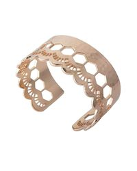Murkani Jewellery - Metallic Lace Rose Gold Edge Cuff - Lyst