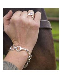 Hiho Silver - Metallic Classic Sterling Silver Snaffle Bracelet - Lyst