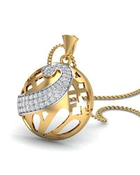 Diamoire Jewels Emblematic 18Kt Yellow Gold Diamond Pave Pendant qEdw6Gp7
