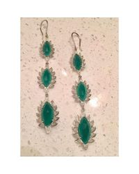 Meghna Jewels - Triple Drop Earrings With Green Onyx - Lyst