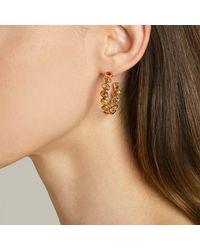Paolo Costagli New York - Multicolor Orange Sapphire Ombre Hoop Earrings, Medium - Lyst