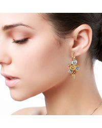 Chekotin Jewellery - Multicolor Bouquet Of Flowers Eden Earrings - Lyst