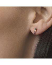 XISSJEWELLERY - Multicolor En Pointe Stud Earrings Mini - Lyst