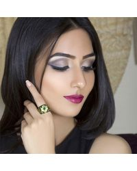 M's Gems by Mamta Valrani - Green Glory Enamel Ring With Emerald - Lyst