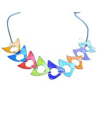 Just Kenzie Jewelry - Blue Grand Stand Necklace - Lyst