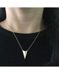 Kaych Fine Jewellery | Metallic V Wing Necklace Yellow Gold | Lyst