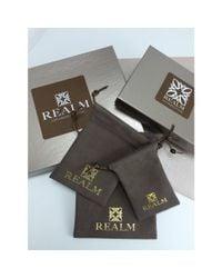 REALM - Metallic Sceptre Pave Cuff - Lyst