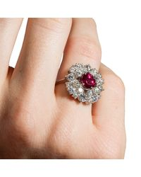 Katherine LeGrand Custom Goldsmith - Multicolor Art Deco Ruby Ring - Lyst