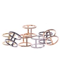 Alexa Leigh - Metallic Gold And Champagne Pave Diamond Elijo Ring - Lyst