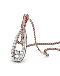 Diamoire Jewels - Metallic Hand-carved 18kt Rose Gold Water-drop Diamond Pendant - Lyst