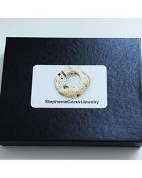 Stephanie Gorski Jewelry - Metallic Circle Stone Necklace Silver - Lyst