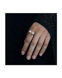 Dutch Basics - Metallic Oxidized Silver Pearl Ring - Lyst
