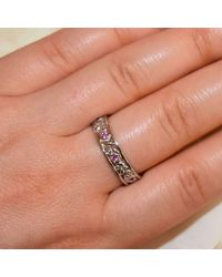 Custom Made By Irina - Multicolor Leaf And Vine Ring - Lyst