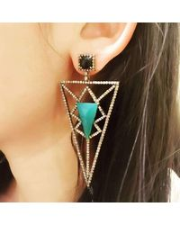 Meghna Jewels - Multicolor Pyramid Earrings - Lyst
