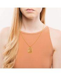 Alex Soldier - Metallic 18kt Gold & Champagne Diamonds Ornament Pendant With Contrast Texture - Lyst