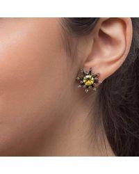 YRYS - Multicolor Stardust Earrings Yellow Gold - Lyst