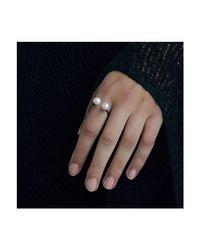 Dutch Basics | Metallic Oxidized Silver Pearl Ring | Lyst