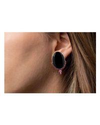 Joana Salazar - Multicolor Contrasting Oval Earrings - Lyst