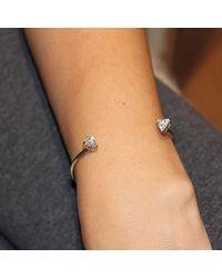 Isa Bagnoli - Multicolor White Gold Triangle Bracelet - Lyst