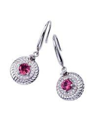 WYS - Pink Tourmaline & Diamond Spinning Earrings - Lyst