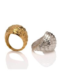 Marina Skia - Metallic Viper Gold Bombe Ring - Lyst