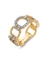DILAMANI - Metallic Diamond Cushion Link Ring - Lyst