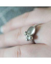 Rebecca Pratt Jewellery - Metallic Moon Stone Ring - Lyst