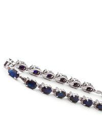 QP Jewellers - Metallic 9kt White Gold Sapphire Infinite Tennis Bracelet - Lyst
