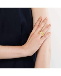 Becky Rowe | Metallic Yellow Gold Angel Wing Ring | Lyst