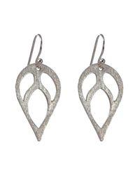 Sima Vaziry - Metallic Bloom Silver Earrings - Lyst