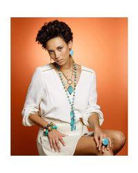 Devon Leigh - Multicolor Shell Pearl Stretch Bracelet - Lyst