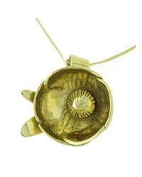 Rachel Helen Designs - Multicolor 18kt Yellow Gold Peony Bud Pendant, Paeonia Officinalis - Lyst