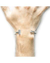 Anchor & Crew - Metallic Faris Square Midi Silver Bangle for Men - Lyst