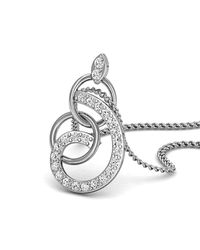 Diamoire Jewels - Metallic 18kt White Gold And Diamonds Nature Inspired Luxe Pave Earrings - Lyst