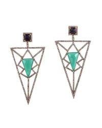 Meghna Jewels - Multicolor Pyramid Earrings - Lyst