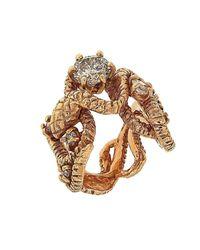 Botta Gioielli - Multicolor Diamonds Snake Ring - Lyst
