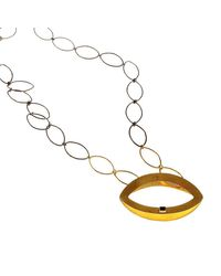 Isla - Metallic Fenician Onyx Necklace - Lyst